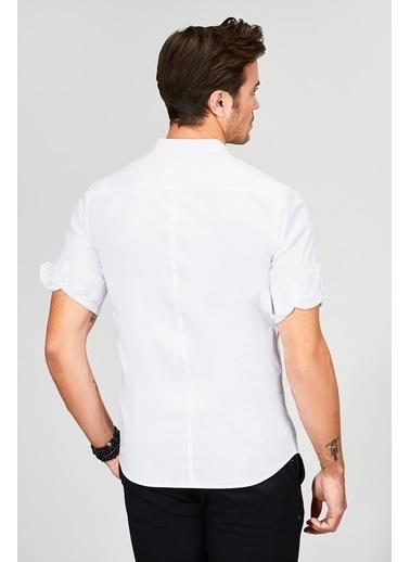 Avva Hakim Yaka Uzun Kollu Gömlek Beyaz